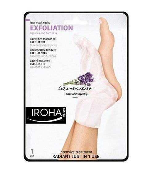 IROHA Chaussettes Traitement Exfoliant Lavande