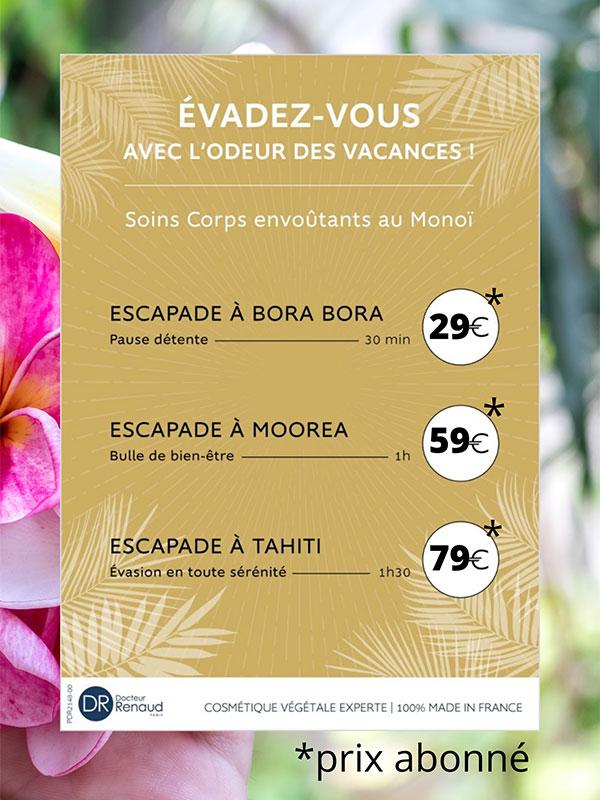 Soin corps au Monoï -  Esthetic for you